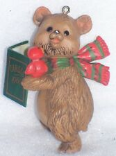 HALLMARK TREE-TRIMMER COLLECTION CHRISTMAS ORNAMENT CAROLING BEAR 1980