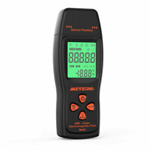 Backlit EMF Meter Ghost Hunting Magnetic Field Detector Paranormal Equipment