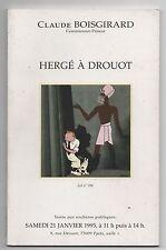 Hergé à Drouot. Catalogue vente aux enchères du 21 janvier 1995.