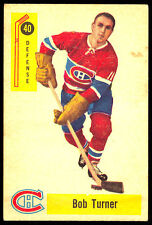 1958 59 PARKHURST HOCKEY #40 BOB TURNER EX+ MONTREAL CANADIENS CARD