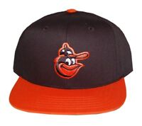 MLB Baltimore Orioles American Needle Snapback Hat Cap-Black/Orange