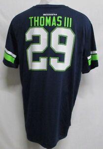 Seattle Seahawks NFL Men Navy Blue #29 Earl Thomas III Jersey T-Shirt M XL