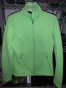 Spyder Women's Endure Core Sweater Jacket  Full Zip Green Style 2723 Size M