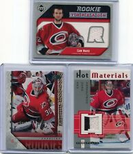2005-06  Cam Ward  3 Cards Lot  Young Guns + Rookie Threads Jsy + Jersey HP