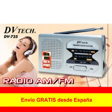 Mini Radio Portátil de Bosillo Altavoz DVTECH DV-725 Dos Bandas AM/FM Pila AA
