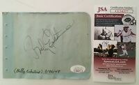 Billy Eckstine Signed Autographed 4.5 x 6 Album Page JSA Certified