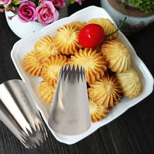 #9FT Large Icing Piping Nozzle Pastry Baking Mold Decor Stainless Steel Tool HQ