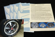 "Pontiac GTO Rally II Wheel Paint Mask Stencil Kit for 14"" Rim"