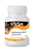 Odourless Garlic 1000mg Extract 30/60/90/120/180/250 Softgel Capsules