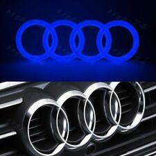 BLUE For Audi Chrome Grill Front Hood A1 A3 A4 A5 A6 A7 Q3 Q5 28CM LED Emblem