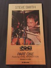 Steve Smith Part One VHS Drums Drumming 1 55 Minutes 1987 Beginner to Pro RARE