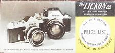 Lickon Co. Preis List Für Studio Equipment Und Uhren / 162385