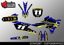 YAMAHA YZF 250 450 2014-2017 NUMBER BOARD GRAPHICS STICKERS MOTOCROSS DECALS MX