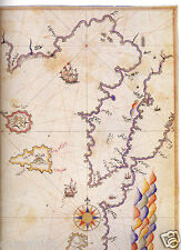 Ancient Map of Dardanelles & Gulf of Saros Turkey Piri Reis 7x5 Inch Photo Repro