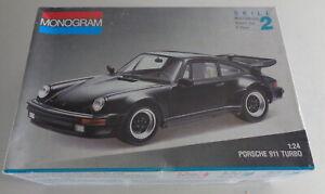 Model Construction Set Porsche 911 Turbo From Monogram, Scale 1/24 Boxed