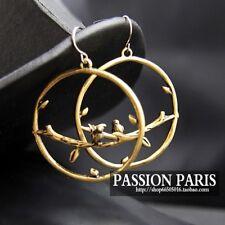 Boucles d`Oreilles Anneau Oiseau Mignon Original Soirée Mariage Cadeau EE 5