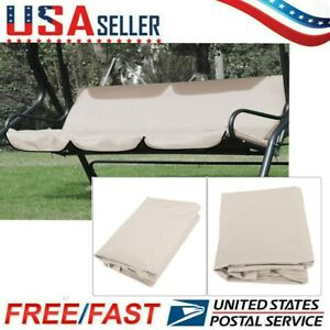 Universal Replacement 3-Seat Cover for Garden Swing Chair Patio Hammock Seat US