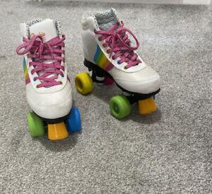 ROOKIE ROLLERSKATES  Forever Rainbow White/Multi Quad Skates