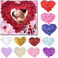 400/1000x Pétales Rose Soie Tissu Confettis Faux Fleur Artificielle Mariage DE