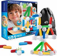 Discovery Kids 101 Piece Best Magnetic Tile Building Blocks Kit Educational NEW