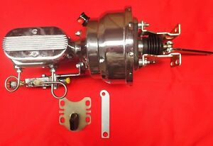 1954-1956 ford chrome power brake booster and master cylinder with pro valve