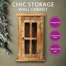 vidaXL Wall Cabinet Solid Reclaimed Wood Hanging Vitrine Storage Display Retro