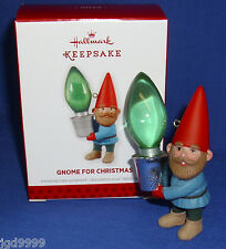 Hallmark Christmas Ornament Gnome for Christmas 2013 Tree Light Bulb in Thimble