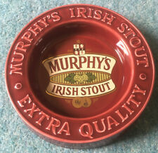 Vintage Large Murphys Irish Stout Ceramic Pub Ashtray Smoking Bar Drink Mancave.