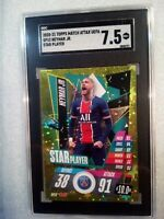 2020 Topps Match Attax UEFA Champions League Star Player NEYMAR JR #SP12 SGC 7.5