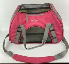 Bergan Pet Comfort Carrier Tote for a Small Dog Or Cat Travel Bag With Pad/Berry