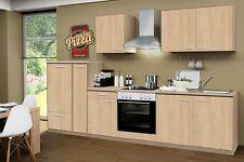 Küchenblock mit Ceranfeld und Spüle Classic 300 cm in Sonoma Eiche Nachbildung
