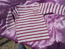 tee shirt neuf marque week end a la mer bébé 3 mois poupée reborn,baigneur 55cm