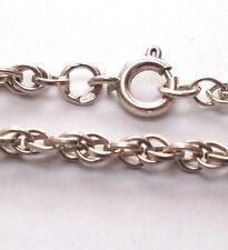 Impresionante 925 plata Serpiente Pulsera Cuerda torcida Vintage complejo bien Link 18cm