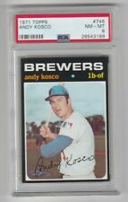 1971 TOPPS BASEBALL #746 ANDY KOSCO !! PSA 8 !! NM-MT !! BREWERS !!