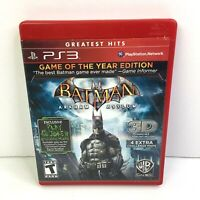 PS3 Batman Game of the Year Edition with Manual Very Good