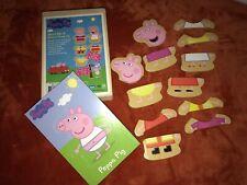 Peppa Pig Mix & Match 12 Piece Dress Up Puzzle- Wood W Storage Box