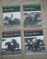 4 THOROUGHBRED Horse Books SEATTLE SLEW Man o War AFFIRMED ALYDAR Sunday Silence