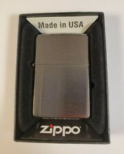 Zippo 200 Brushed Chrome Wind-Proof Lighter, New in Box Made in USA