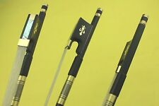 1 pc New PRO black 4/4 Carbon fiber violin bow ebony frog inlaid copper flower