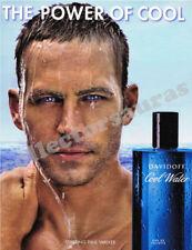 Paul Walker DAVIDOFF Cool Water perfume advert - A4 size high quality print ONLY