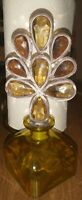 Old Yellow Perfume Bottle With Design Top