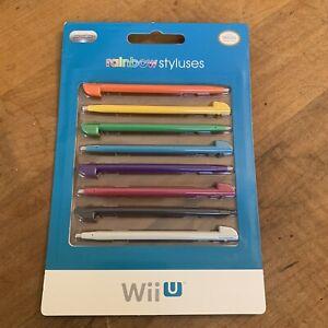 Wii U Rainbow Styluses Set of 8 Brand New Sealed Gaming Game Write