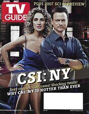 Tv Guide Magazine Csi New York Gary Sinise Melina Kanakaredes Sci-Fi Preview