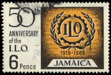 JAMAICA 274 (SG275) - International Labor Organization 50th Anniversary (pa90181