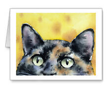 TORTOISESHELL CAT Set of 10 Note Cards With Envelopes