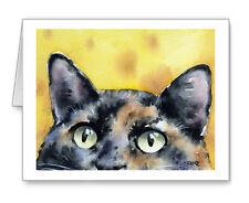 TORTOISESHELL CAT Set of 10 Note Cards With Envelopes