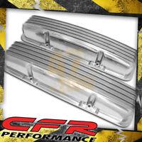Aluminum Chevy Sb 283-400 Short Valve Covers Full Finned - Polished (W/O Holes)