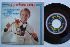 """7"""" Peter Kraus – Ei Ei Ei Verpoorten / Tutti Frutti - Werbeexemplar"""