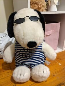 Peanuts Snoopy Joe Cool Plush Toy W Black Glasses/Shades