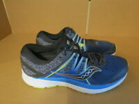 MENS SAUCONY EVERUN OMNI ISO BLUE BLACK WHITE GREEN RUNNING SHOES SIZE 10M A635